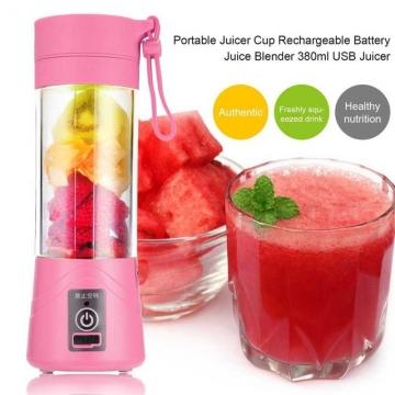 Mini Portable Juicer Cup Rechargeable Blender USB Juicer for vegetables fruit  Reamers Bottle pink #01