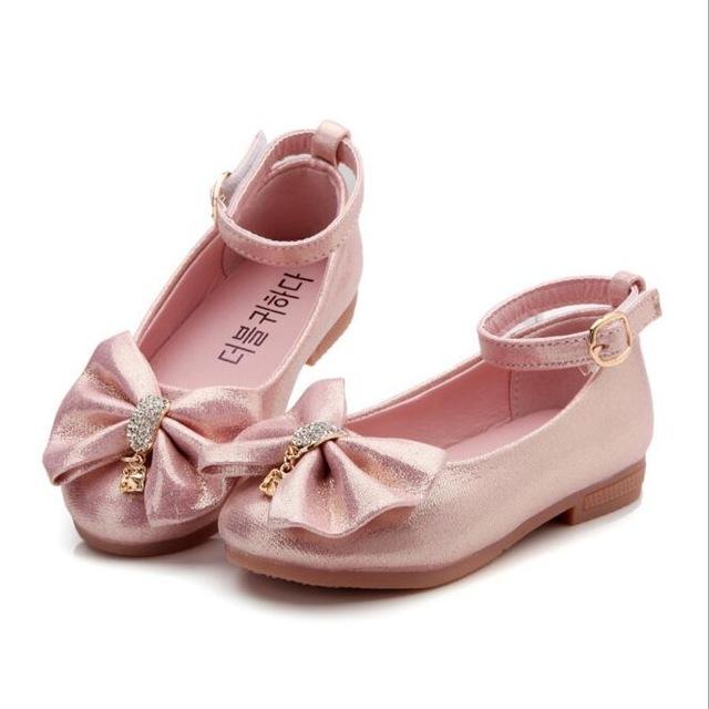 Princess Band Soft Sole PU Leather Fashion Bowknot Rhinestone Flower Girls  Dress Shoes pink 11  Product No  622610. Item specifics  Brand  c7f28abb5722