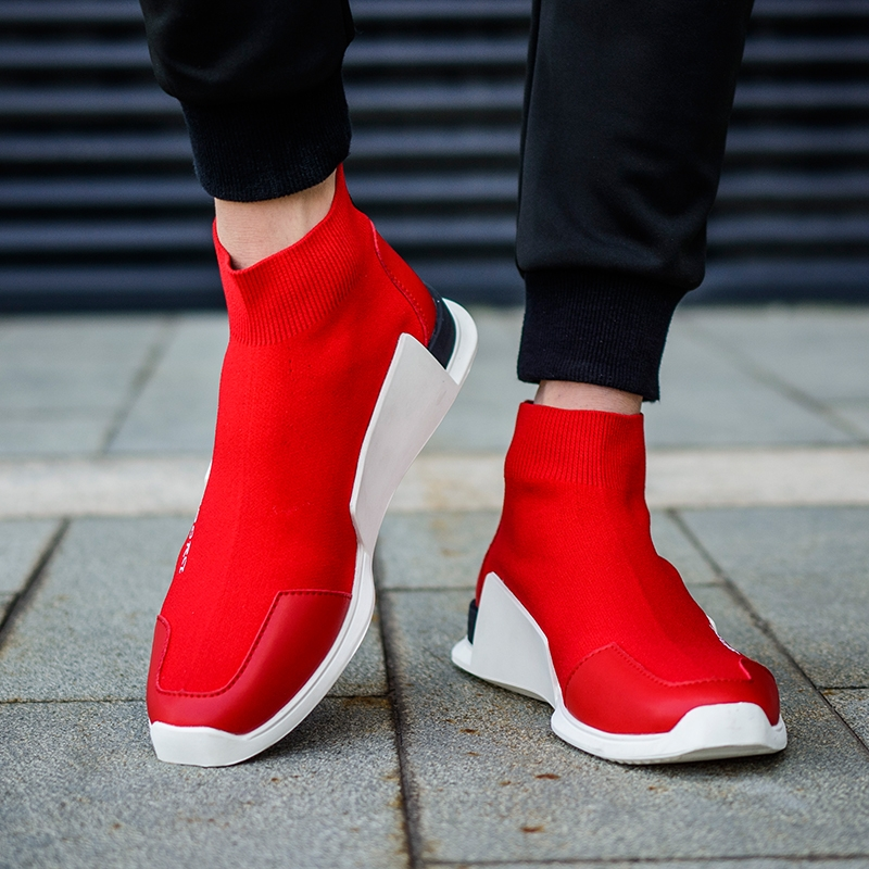Slip On High Top Shoes Men Casual Slipony Walking Flats Tenis Masculino  Adulto Breathable red US8.5  Product No  634849. Item specifics  Brand  48d3fd9f363c