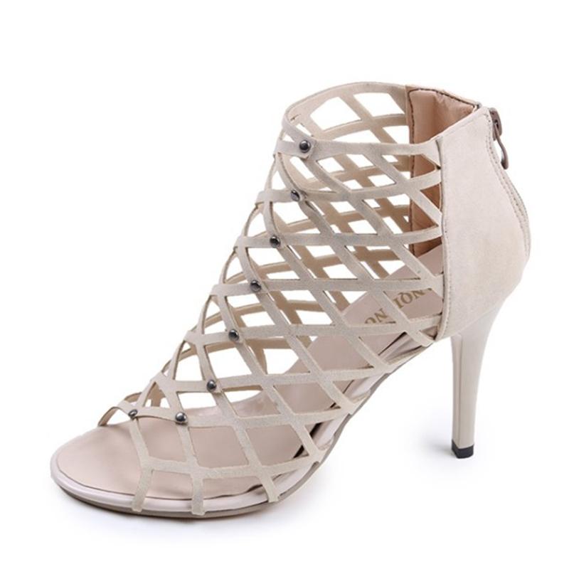 50e3f05743 ... Peep Toe Thin Heels Sexy women Pumps Gladiator Zipper Shoes khaki US8:  Product No: 644380. Item specifics: Brand: