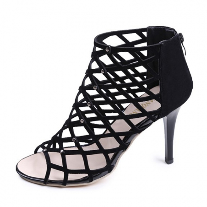 2c335cfa4a Summer Woman Cross-tied Ankle Strap Peep Toe Thin Heels Sexy women Pumps  Gladiator Zipper