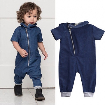Fashion Kids Rompers Denim Newborn Toddler Baby Boys Romper Jumpsuit Outfits Clothes 01 10-12M
