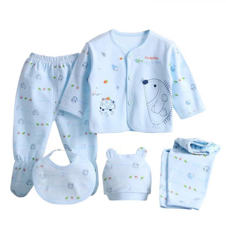 35f281ab3b32 5pcs set Newborn Baby 0-3M Clothing Set Brand Baby Boy Girl Clothes ...