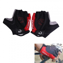 Cycling Gloves Half Finger Anti Slip Gel Pad Breathable Motorcycle MTB Mountain Road Bike Gloves red L