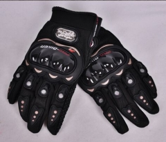 motorcycle gloves racing motocross full finger cross country wearable breathable protective gear black 2XL
