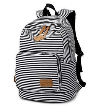 4c23c50f5e6a Women Canvas Backpacks Stripe Bags School Bag College Designer Female  Backpack Preppy Style black one size  Product No  654762. Item specifics   Brand