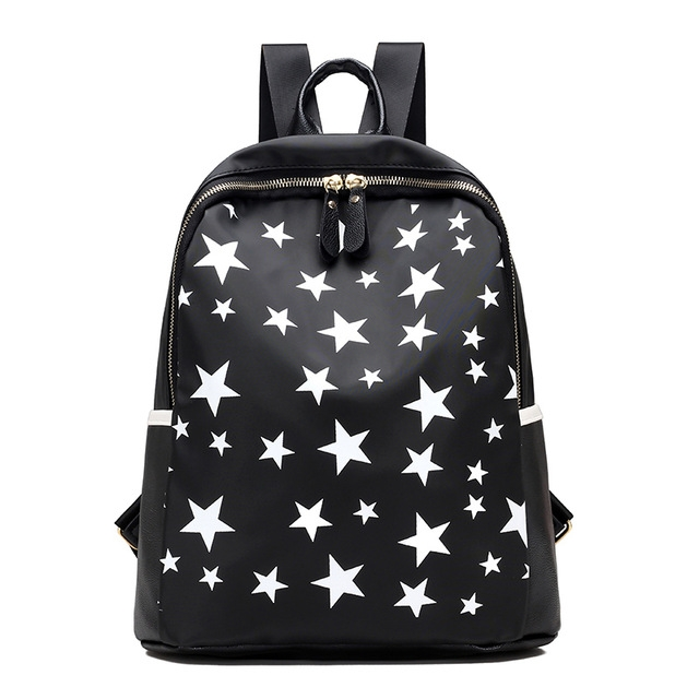 Star Nylon Backpack Vintage Woman Bagpack School Bags for Teens Female Black  Small Backpacks  01 one size  Product No  654787. Item specifics  Brand  2cde25fbe7435