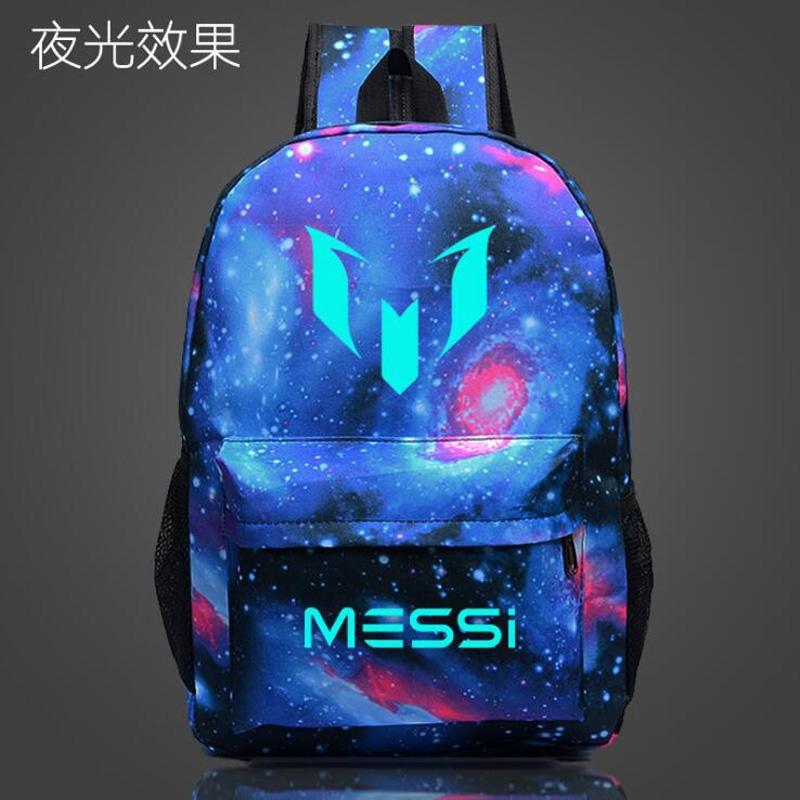 4c739ec9b183 Logo Messi Backpack Bag Men Boys Barcelona Travel Teenagers School Gift  Kids Mochila Bolsas Escolar  01 one size  Product No  660604. Item  specifics  Brand