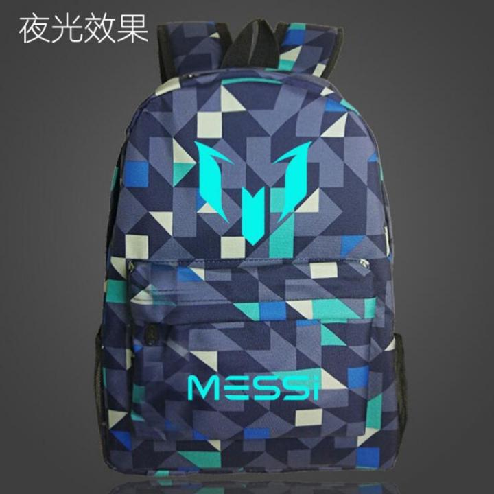 78b5626f9e1f Logo Messi Backpack Bag Men Boys Barcelona Travel Teenagers School Gift  Kids Mochila Bolsas Escolar
