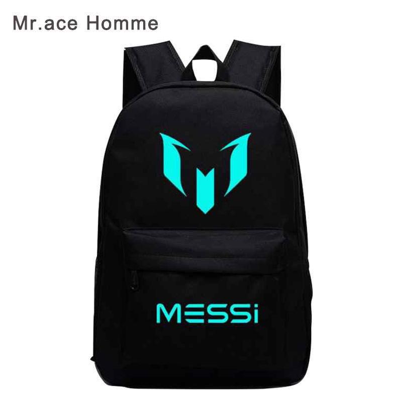 39113bc9210f Logo Messi Backpack Bag Men Boys Barcelona Travel Teenagers School Gift  Kids Mochila Bolsas Escolar  04 one size  Product No  660607. Item  specifics  Brand