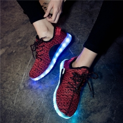 LED Shoes With Lights For Adults Femme Casual Shoes LED Luminous Fashion 6 Colors Krasovki Men Shoes #01 US4