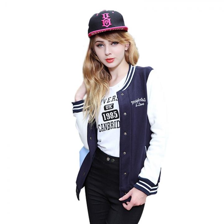 b5c8ef2f2e0 bomber jacket women coat chaquetas mujer casaco feminino jaqueta feminina  baseball veste femme navy 2XL