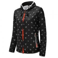 New Arrival Outwear Quick-dry Riding Windbreaker Casual Hood Waterproof Women's Jacket black L