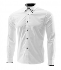 Men Dress Shirt  Casual Camisa Slimming Social Masculina Para Hombre Vestir Chemise Vetement Homme #01 M