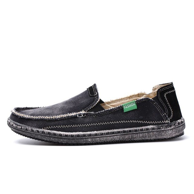 3473558d8f3 New arrival Mens Breathable High Quality Casual Shoes Jeans Canvas Casual  Shoes Slip On Flats Loafer