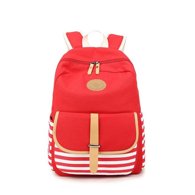 Women Backpacks Teenage Girls Canvas Striped Feminine Backpack School Girl  Mochila Feminina Bag red one size  Product No  701858. Item specifics   Brand  8796fd5461339