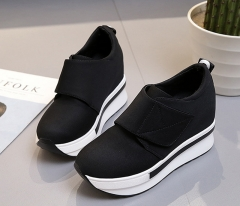 Platform Shoes Woman Wedges Handmade Shoes Moccasins Shoes Female Soft Breathable Ankle Boots black US5