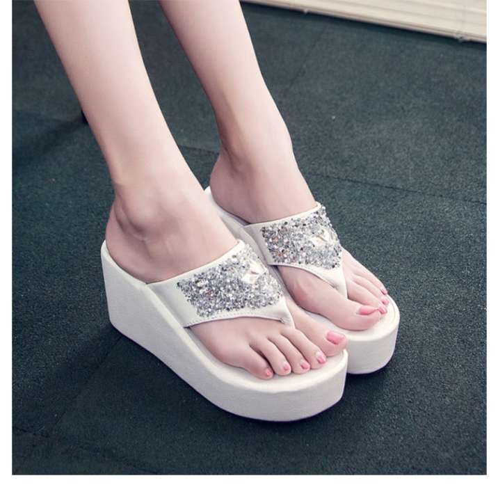 2b8e267bc Flip flop slipper summer women shoes wedges bling thong outdoor sea slides  sexy high quality gilrs