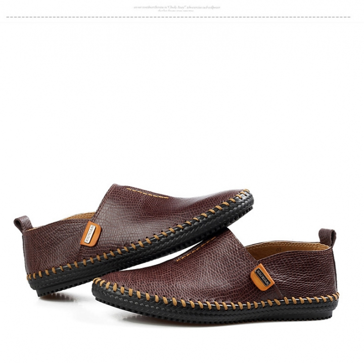 5b973b7ea6f Best Quality Genuine Leather Men Flats Casual Soft Loafers Comfortable  Driving Breathable Shoes brown US11