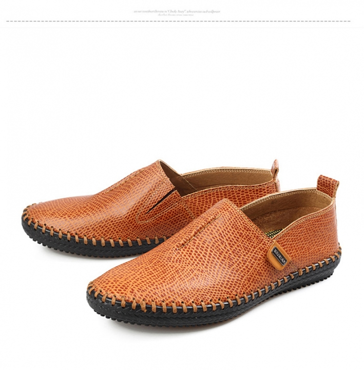 3e121f22750 Best Quality Genuine Leather Men Flats Casual Soft Loafers Comfortable  Driving Breathable Shoes yellow US11