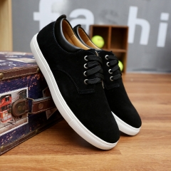 Big Size 39-49 Brand Solid Color Men Breathable Outdoor Casual Canvas Men's Shoes black US7