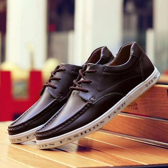 76eee46bbe2 New Arrived Men Casual Shoes Fashion Breathable Genuine Leather Men Shoes  Men Flats Formal Shoes brown 8.5  Product No  742555. Item specifics  Brand