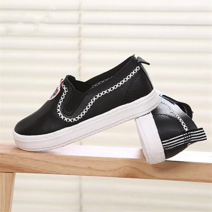 6615b8e843 New unisex Children Flat shoes Canvas Rubber Boys Girls Sneakers  Comfortable Slip On Child Footwear black 2