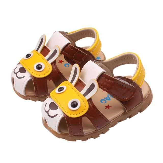9a16bdd928b Baby Sandals Fashion Toddler Kids Boys Summer Shoes With Flashing Lights  Sandals Cartoon Shoes coffee 6.5