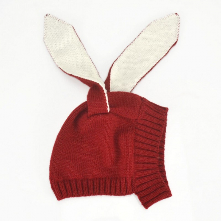 a6ff8fc400b Autumn Winter Toddler Infant Knitted Baby Hat Adorable Rabbit Ear Hat Bunny  Beanie Cap Photo Props
