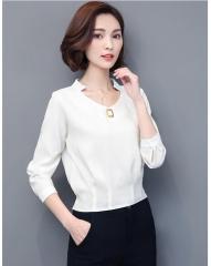 New Womens Tops 2017 Autumn Winter Women T Shirt Casual Striped T-Shirts white m