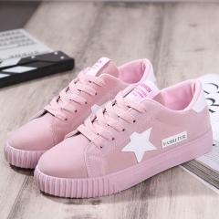 New Casual Women Shoes Stars Fashion Patchwork Ladies Canvas Shoes Female Platform 01 35(women)
