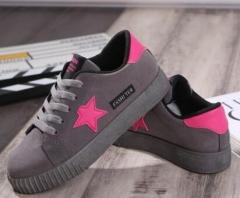 New Casual Women Shoes Stars Fashion Patchwork Ladies Canvas Shoes Female Platform 04 38(women)