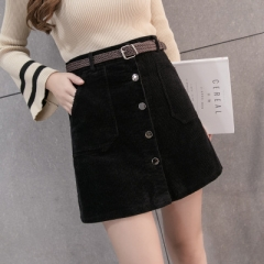 2017 New Spring Harajuku Office Lady School Women's Short Skirt Denim Style skirt black s