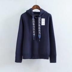 2017 Womens Hoodie Sweatshirts  Long Sleeve Beading Black Pullovers Women Female Casual Sweat tops blue s