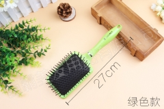 High Quality Portable   Soft Curved Vent Salon Hairdressing Tool Rows Tine Comb Hair Brush green one size