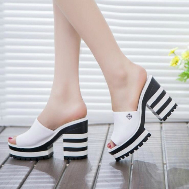 c5306beb64a3 ... sandals thick heel slippers woman platform wedges summer shoes white  37  Product No  871514. Item specifics  Brand