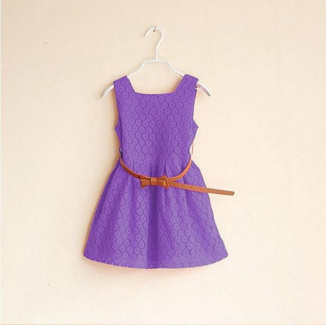 958d43c5c Summer Lace Vest Girls Dress Baby Girl Princess Dress 2-8 Years ...