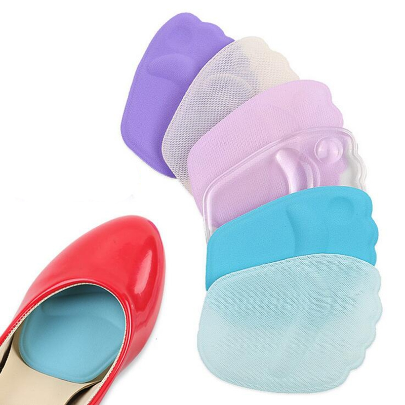 1Pair High Heels Insoles Front Forefoot Pad 3D Silicone Pad Half ... fbc30ce79e0f