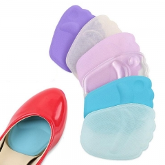 1Pair High Heels Insoles Front Forefoot Pad 3D Silicone Pad Half Palm Insole Massaging Random one size