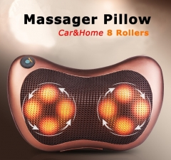 Infrared Heating Massage Pillow Home Car Dual-Use Cervical Lumbar Neck Pain Relief Pillow Massager rollers    8