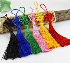 Rayon Silk Tassel Chinese Knot Cotton key Tassels for Car hanging pendant bag ornaments