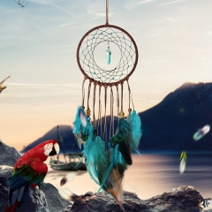 New Weddings Decoration Party Diy Handmade Dream Catcher With  Feather Dream catcher Home Wall Decor mixcolor one  size