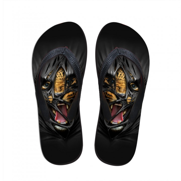 3D cartoon fierce fierce tiger leopard series sandals summer anti-skid slippers C0421AB Female 7