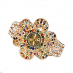 Large dial petal Korean bracelet table fashion round with a diamond ladies watch Colorful