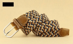 Elasticated men 's belt Teenager student woven belt weaving elastic needle buckle belt beige camel 100*3.3cm