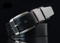 New men 's belt imitation head needle buckle belt youth retro jeans belt black 113*3.7cm