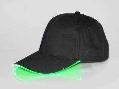 Luminous LED luminous baseball cap green One Size