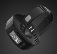 Pedometer Smart Sport Bracelet Calorie Watch Distance Time Shows Athletic Pedometer black