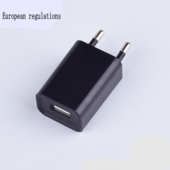 5V1A charger charging head European regulation Android mobile phone universal black 31*20*40mm