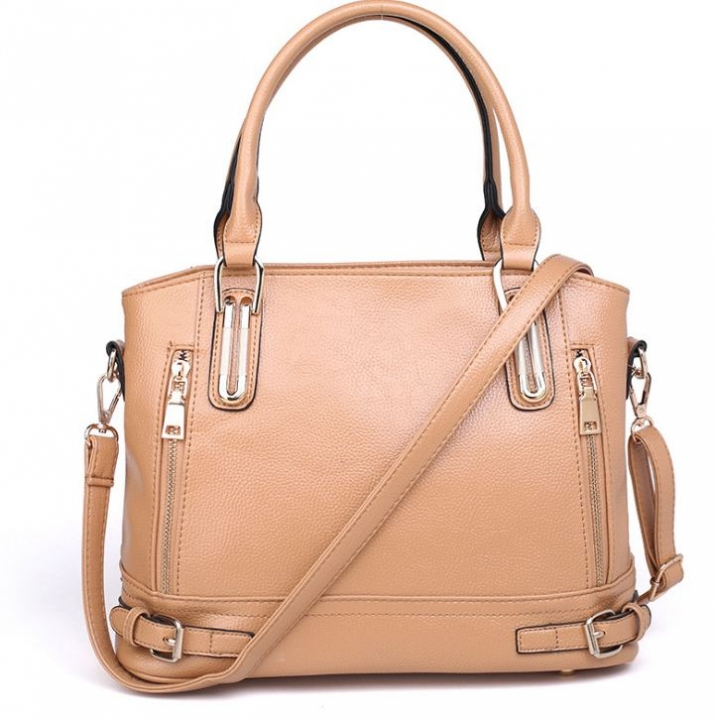European Hot Selling Luxury Fashion Women Single Shoulder Bags Leather Handbags apricot one size